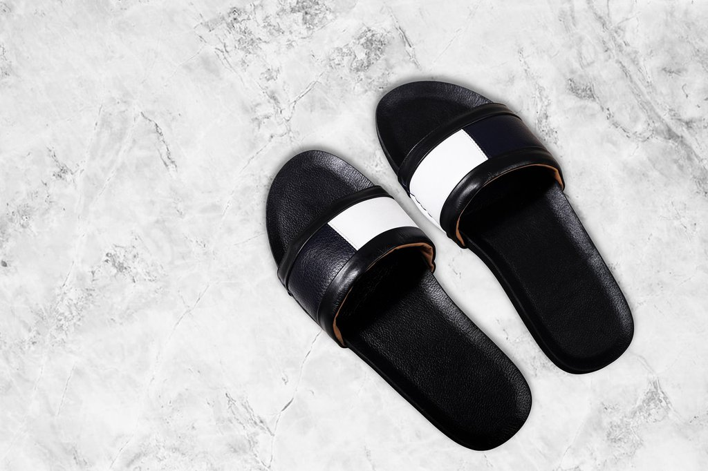 Premium Leather Slides
